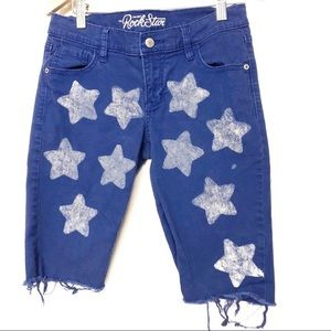 Old Navy Rock Star Cut Off Star Stamped Shorts 8
